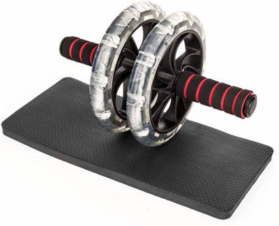 ProWorks Black and Red Ab Roller with Mat