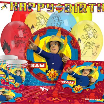 Fireman Sam Party Pack - Deluxe 16 Pack