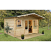 Forest Garden Nevis Log Cabin 4.0m x 4.0m 34mm Installed