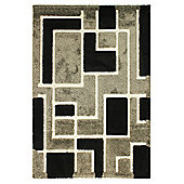 Venice Imperial Grey/Black Rug 160x230cm