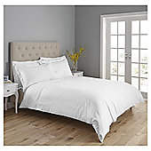 Fox & Ivy Embroidered Stitch Duvet Set - White