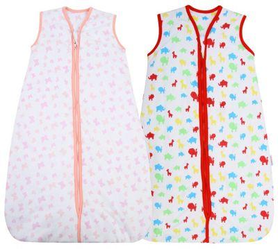 Snoozebag Baby Sleeping Bag - Jungle Fun + Butterflies & Hearts TWIN Pack (2.5 tog, 6-18 months)