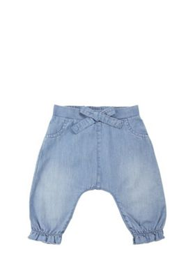 F&F Chambray Harem Trousers Blue 0-1 months