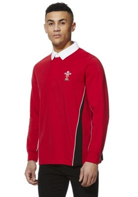 Welsh Rugby Union Long Sleeve Rugby Shirt Red XL