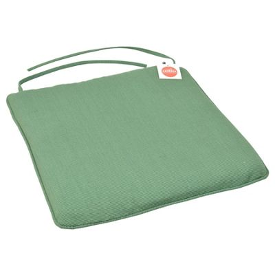 Harbour Housewares Padded Dining Chair Seat Cushion With Ties - Green - 22.4