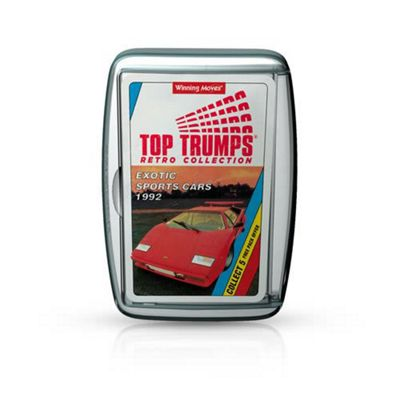 Top Trumps Exotic Sports Cars Retro Card Game