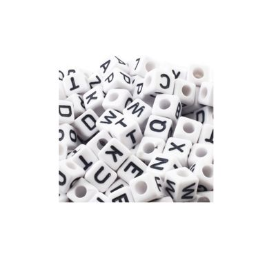 Impex Alphabet Beads Black and White