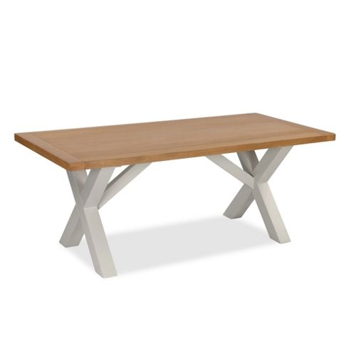 Daymer Grey Cross 190cm Dining Table