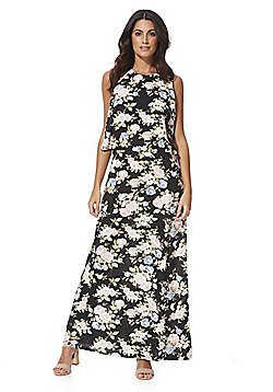 Izabel London Floral Layered Split Back Maxi Dress - Multi