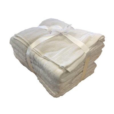 Rapport 500gsm 7 Piece Towel Set - White