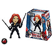 Metals Die Cast Marvel Civil War: 4 inch Black Widow Figure