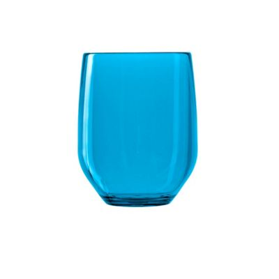Italesse Party Tumbler 420cc Unbreakable Policrystal Blue x2
