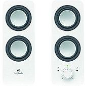 Logitech Z200 2.0 Speaker System - Snow White