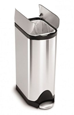 Simplehuman Brushed Stainless Steel Butterfly Pedal Bin, 30L