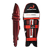 Woodworm Firewall Gamma Cricket Batting Pads - Mens Right Hand + Left Hand - Red