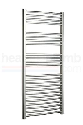 Radox Premier Curved Designer Towel Rail Chrome 800mm High x 500mm Wide