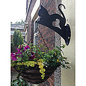 Made O' Metal Kitten Hanging Basket Bracket