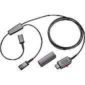 Plantronics Y-Adaptor Training Cord with Microphone Mute Switch and QD Clamp (4-pin QD)