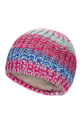 Mountain Warehouse Plaited Fleece Lined Knitted Kids Beanie