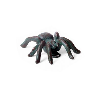 Small Wall Mountable Verdigris Cast Iron Tarantula Spider Garden Ornament