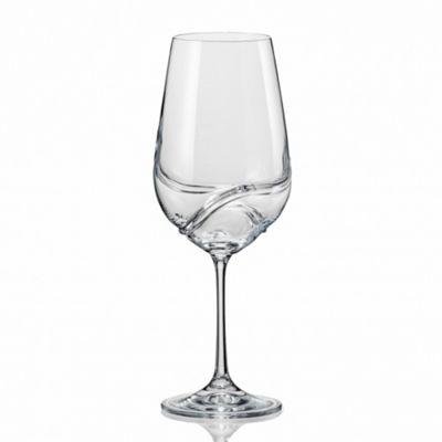 Bar Amigos Pack of 2 Turbulence Bohemian Crystal Wine Glasses 350ML