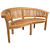 BrackenStyle Windsor Curved Teak Bench - 3 Seater