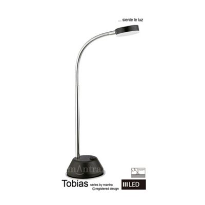 Tobias 1 Light Table Lamp LED 3W BlacK Chrome 3000K