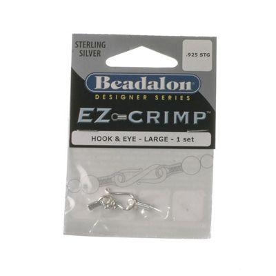 Beadalon Ez-Crmp Hook&Eye Lg Stg 1Set