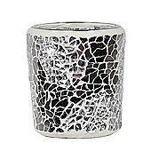 Aroma Silver Mirrored Crackle Votive Holder