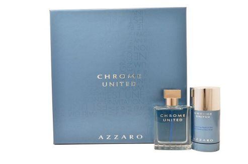 Azzaro Chrome United Eau de Toilette 50ml & Deodorant Stick 75ml Set For Him Men