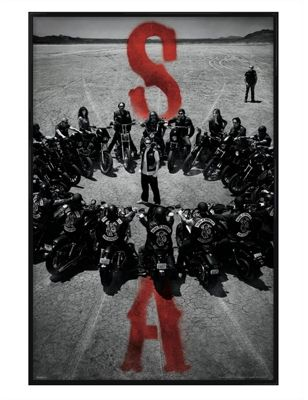 Gloss Black Framed Sons of Anarchy Bike Circle Poster