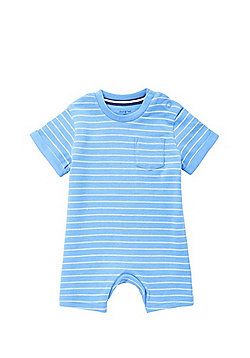F&F Striped Short Sleeve Romper - Blue