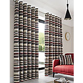 Richmond Red Eyelet Curtains - Natural