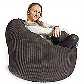 Lounge Pug® Mini Mammoth Bean Bag Chair - Cord Graphite Grey