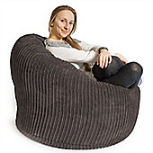 Lounge Pug™ Mini Mammoth Cord Bean Bag - Graphite
