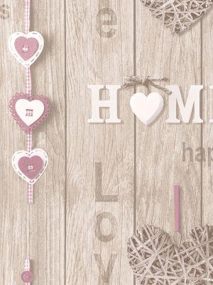 Fine Decor Love Your Home Wallpaper Lilac FD41720