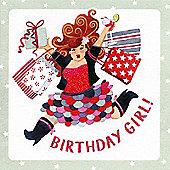 Holy Mackerel Birthday girl - shopping Greetings Card
