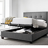 Happy Beds Yorkie Double Grey Fabric Ottoman Bed Frame