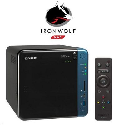 QNAP Turbo NAS TS-453B-4G/12TB-IW 4-Bay 12TB(4x3TB Seagate IronWolf) QTS-Linux combo quad-core NAS