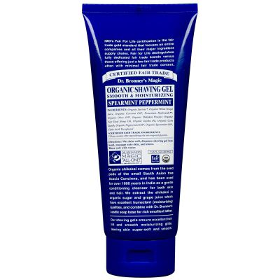 Dr Bronner's Organic Shikakai Spearmint Peppermint Shaving Gel 208ml