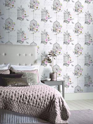 Diamond Birdcage Wallpaper Neutral Arthouse 259700