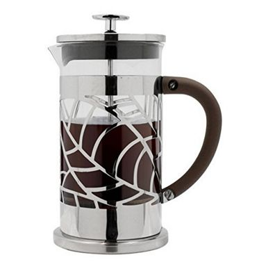 Café Ole 0.8L Floral Cafetiere 6 Cup Stainless Steel French Press