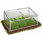 Large Ground Vegetable Greenhouse / Growbag With Strong Reinforced Slanted Cover & Twin Vents