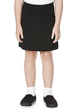 F&F School Girls Jersey Skort - Black