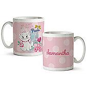 Disney Aristocats Personalised Floral Mug