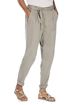 F&F Tencel® Tapered Leg Trousers - Khaki
