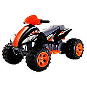 Kids 6V Quad Bike Style Ride On Car - Orange and Black
