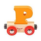 Bigjigs Rail Rail Name Letter P (Orange)
