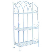 Charles Bentley Garden Wrought Iron Plant Rack - Blue