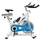 Bodymax B15 White Indoor Cycle Exercise Bike With Free LCD Monitor